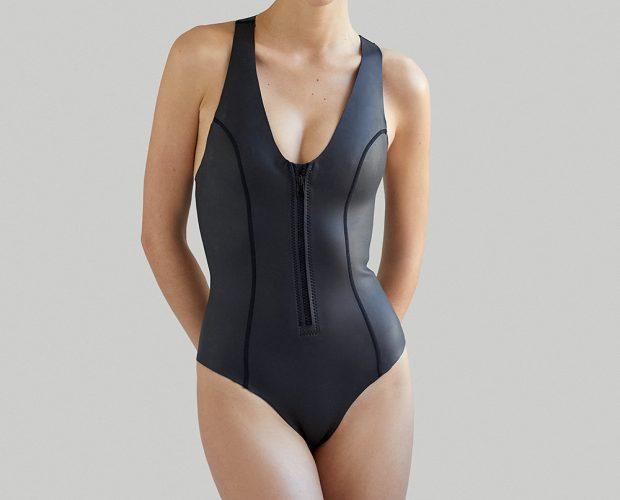 Ethical sustainable Luxury Swimwear / Ropa de baño sostenible, onepiece swimsuit/ bañador ecológico. SYLVIA neopreno ecológico ecopreno NOW THEN