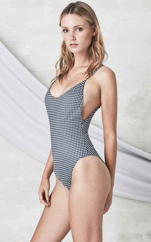 ALONA ONEPIECE gingham eco recycled swimsuit