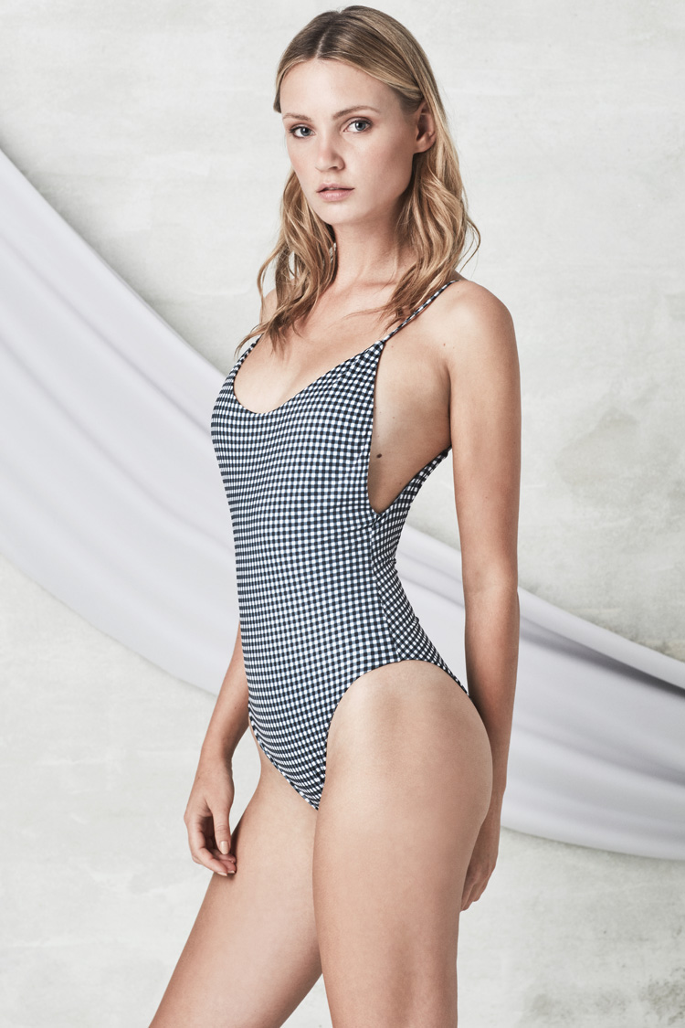 ALONA gingham onepiece, NOW_THEN eco swimwear / bañador ecológico