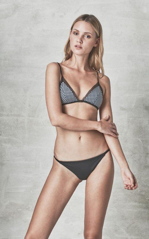 MANA MILOS gingham eco recycled bikini