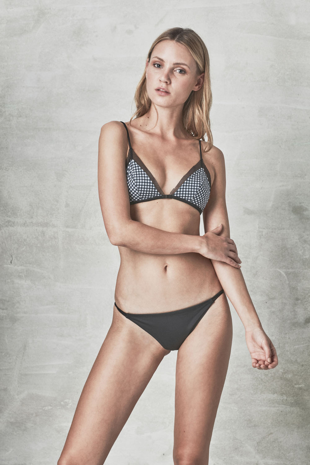 MANA + MILOS gingham, by NOW_THEN eco swimwear / bikini ecológico