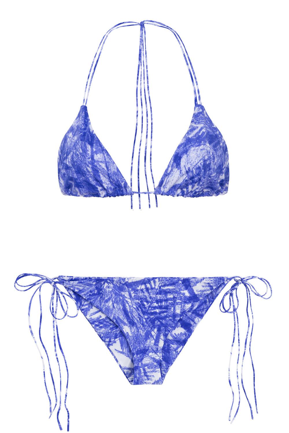 Dreamlands + St.John bluefoliage, by NOW_THEN eco swimwear / bikini ecológico