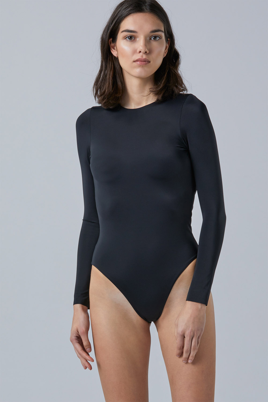 Sustainable Luxury Swimwear / Ropa de baño sostenible, eco bodysuit / bodysuit ecológico. Eugenie in blacksands, by NOW_THEN