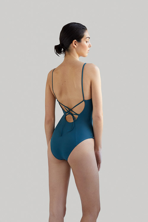 barton eco swimsuit in algae now_then ecofriendly sustainable swimwear