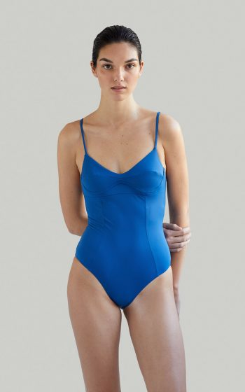 Sustainable Luxury Swimwear / Ropa de baño sostenible, eco swimsuit / bañador ecológico. Barton onepiece in swell, by NOW_THEN