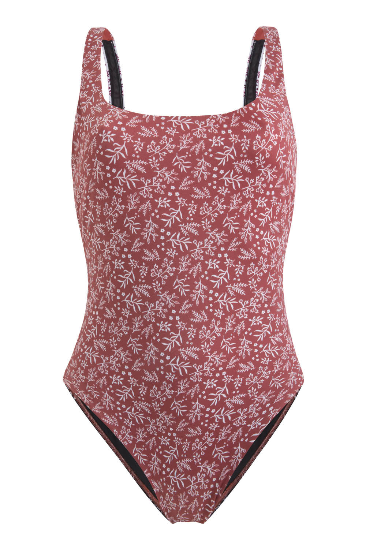Sustainable Luxury Swimwear / Ropa de baño sostenible, eco swimsuit / bañador ecológico. Del Carmen onepiece in anemone, by NOW_THEN