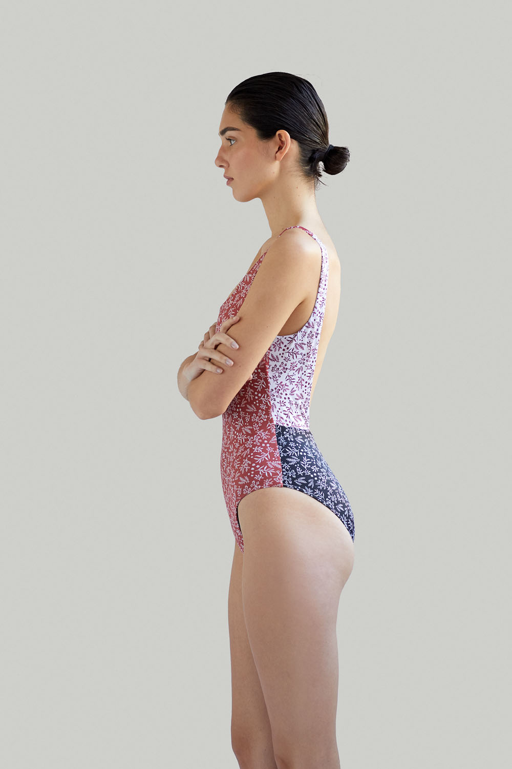 Sustainable Luxury Swimwear / Ropa de baño sostenible, eco swimsuit / bañador ecológico. Del Carmen onepiece in anemone, by NOW_THEN