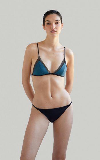 Sustainable Luxury Swimwear / Ropa de baño sostenible, eco bikini / bikini ecológico. Mana + Milos in algae, by NOW_THEN