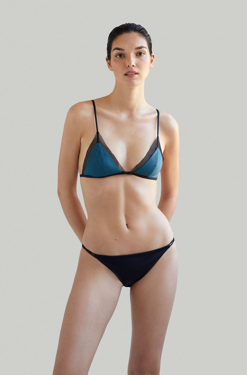 Sustainable Luxury Swimwear / Ropa de baño sostenible, eco bikini / bikini ecológico. Mana + Milos in algae, by NOW_THEN