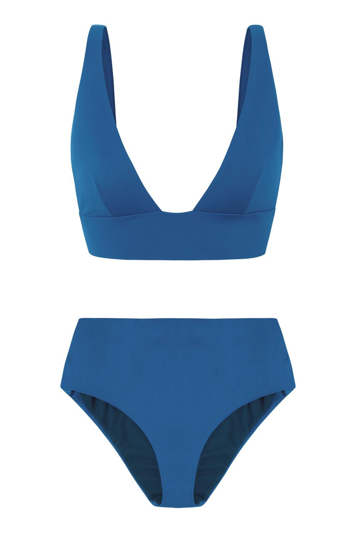 Ropa de baño sostenible, eco bikini / bikini ecológico. Kapalai + Farond color swell, by NOW_THEN
