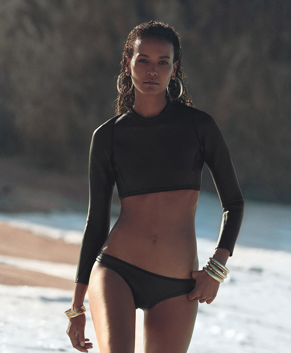 LIYA KEBEDE NOW_THEN ECO SWIMWEAR SUSTAINABLE PORTER MAGAZINE ECO NEOPRENE BIKINI