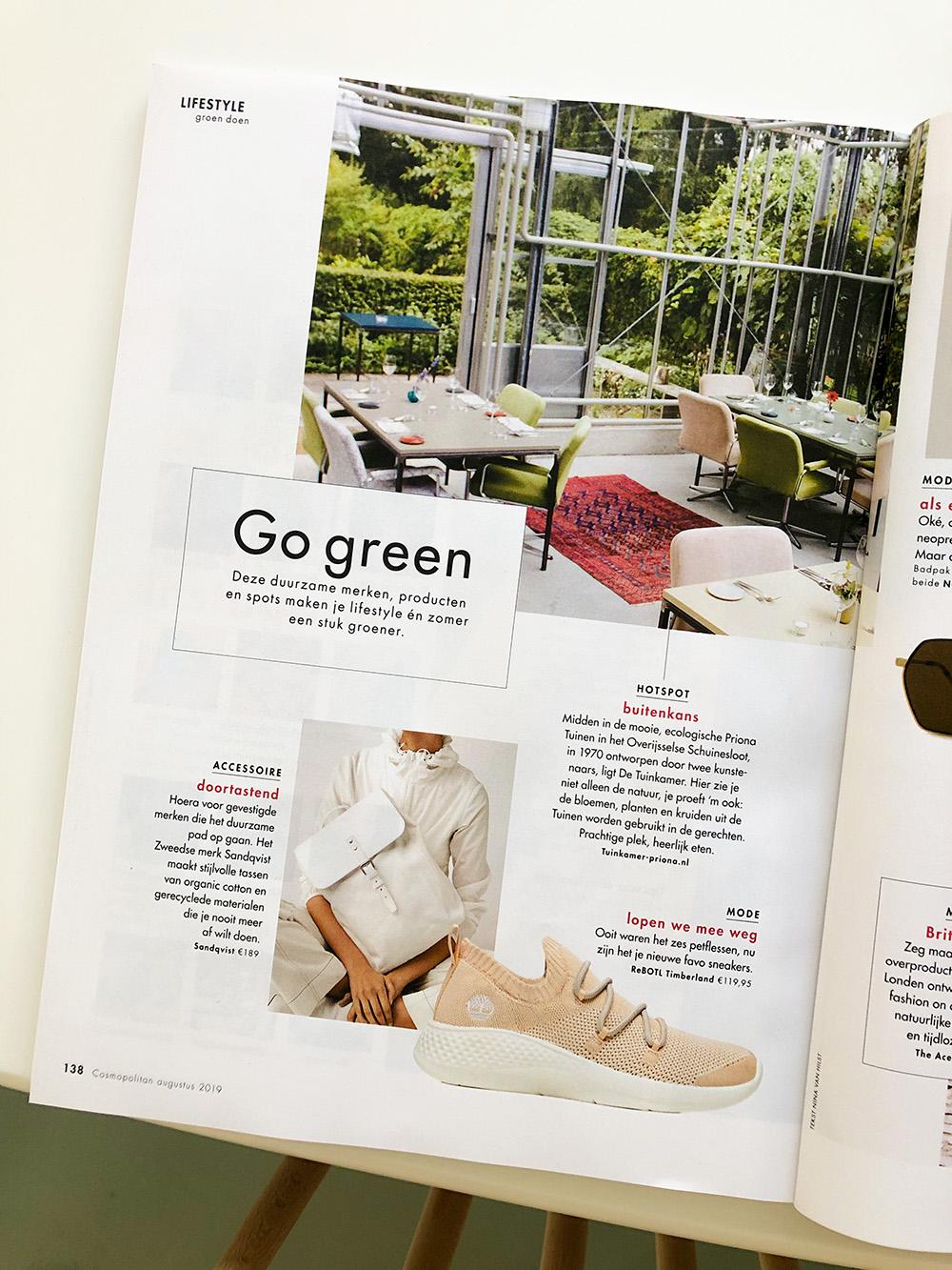 Cosmopolitan Netherlands August 2019 eco green edit nowthenlabel