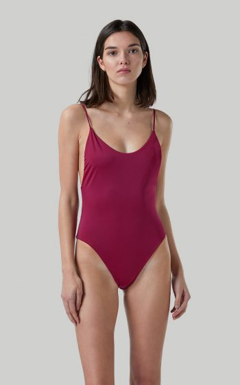 Ropa de baño sostenible, eco swimsuit / bañador ecológico. Alona onepiece color pitaya, by NOW_THEN