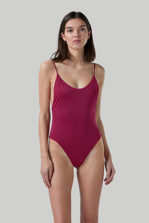 Ropa de baño sostenible, eco swimsuit / bañador ecológico. Alona onepiece color pitaya, by NOW_THEN