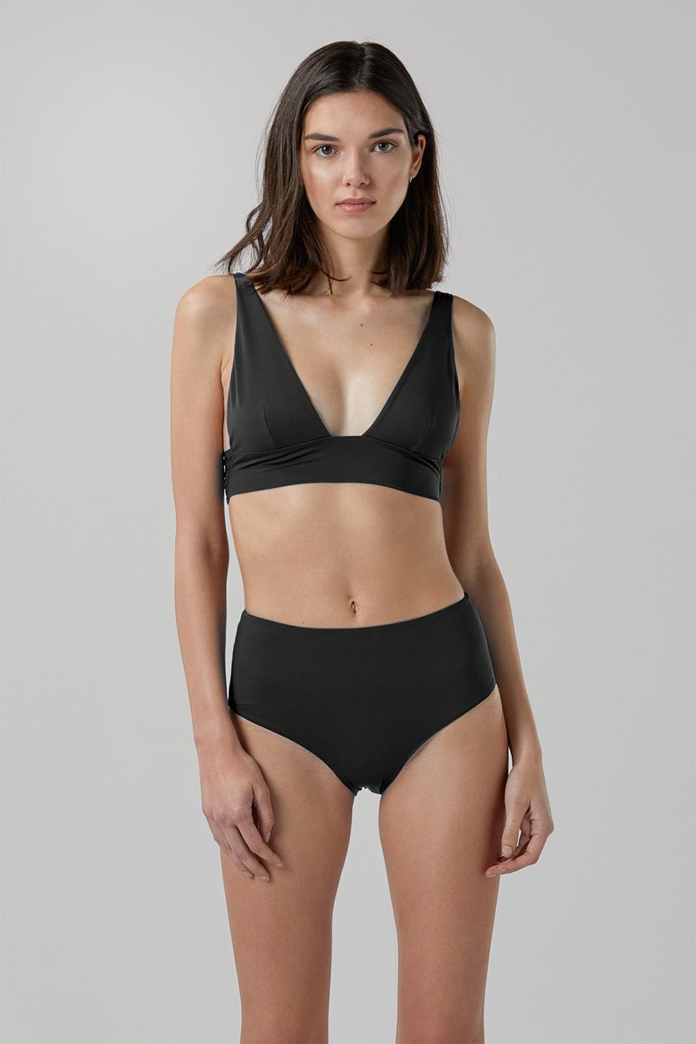 Sustainable Luxury Swimwear / Ropa de baño sostenible, eco bikini / bikini ecológico. Kapalai + Farond in black, by NOW_THEN