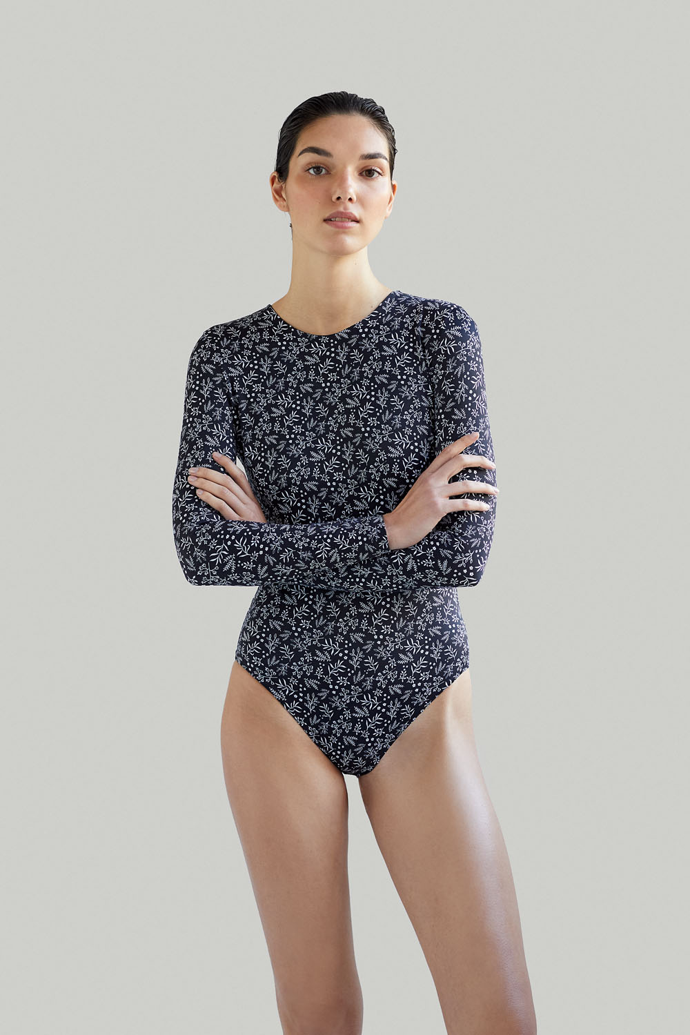 Sustainable Luxury Swimwear / Ropa de baño sostenible, eco bodysuit / bodysuit ecológico. Eugenie in anemone, by NOW_THEN