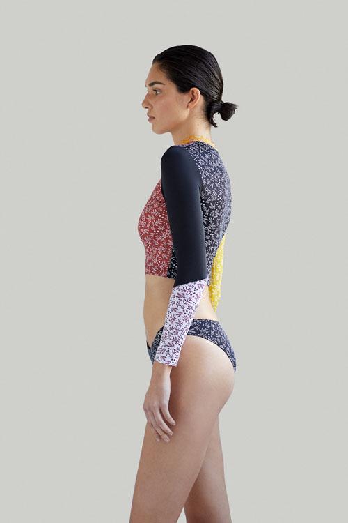 Sustainable Luxury Swimwear / Ropa de baño sostenible, eco rashguard + bikini / rashguard + bikini ecológico. Frontera rashguard + Entalula bikini, by NOW_THEN