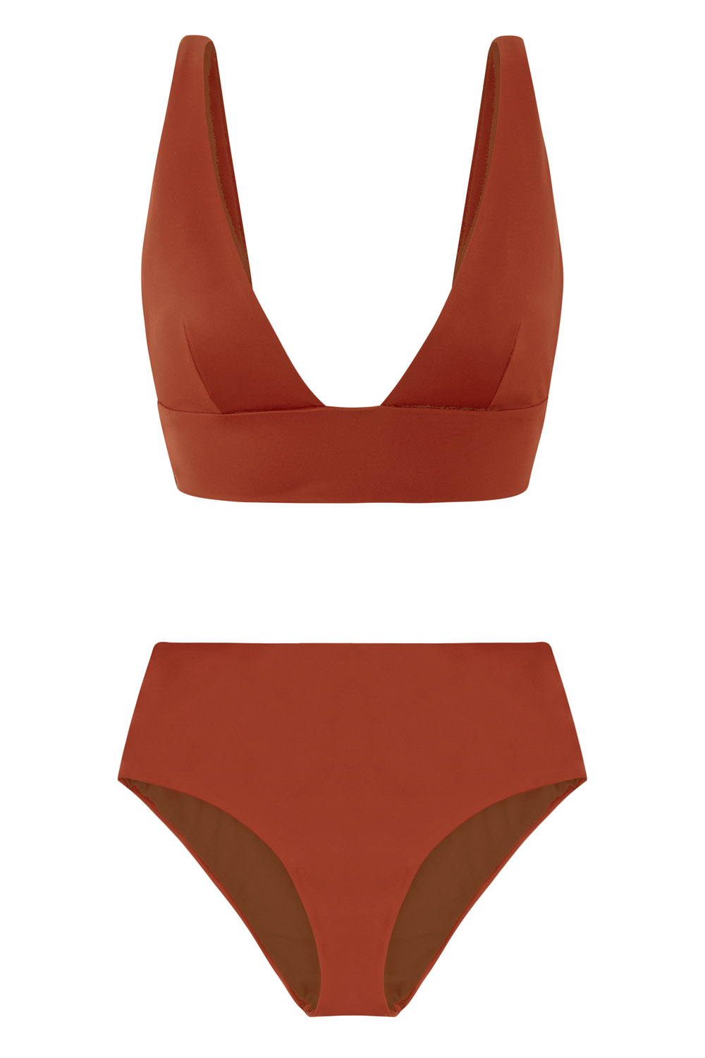 Sustainable Luxury Swimwear / Ropa de baño sostenible, eco bikini / bikini ecológico. Kapalai + Farond in clay, by NOW_THEN