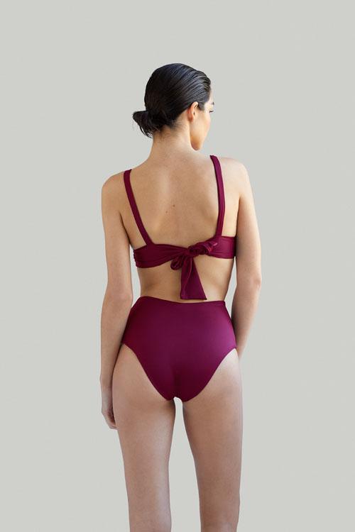 Sustainable Luxury Swimwear / Ropa de baño sostenible, eco bikini / bikini ecológico. Kapalai + Farond in pitaya, by NOW_THEN
