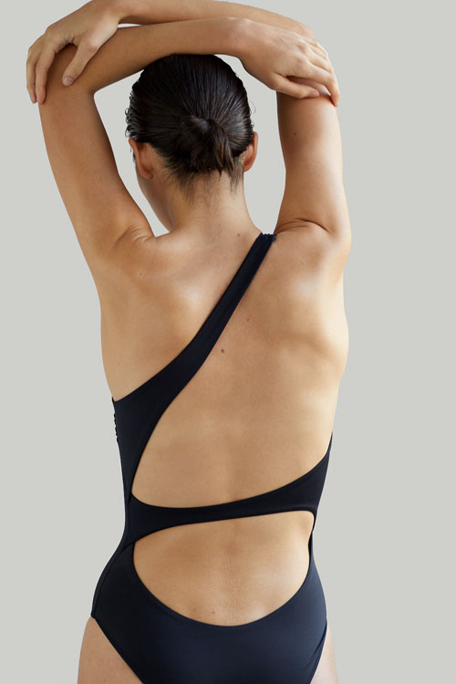 Sustainable Luxury Swimwear / Ropa de baño sostenible, onepiece swimsuit/ bañador ecológico. Sendai onepiece black by NOW_THEN