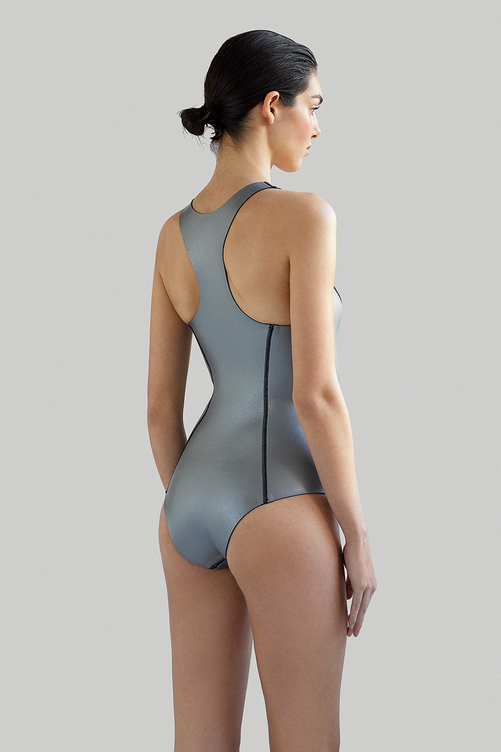 NOW_THEN Sylvia ecoprene wetsuit silver back