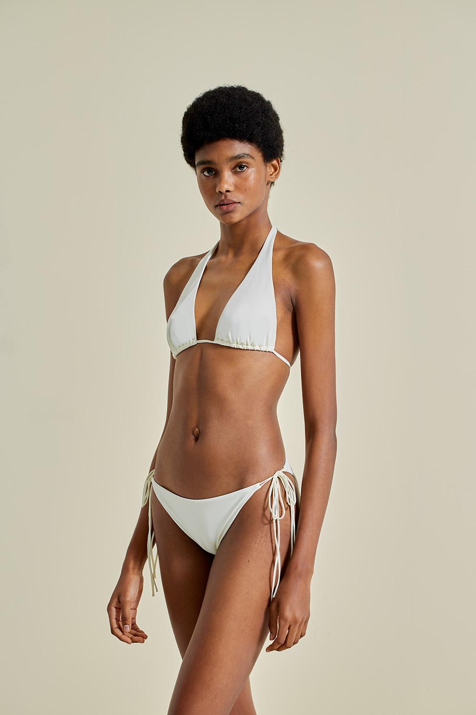 Sustainable Luxury Swimwear / Ropa de baño sostenible, eco bikini / bikini ecológico. Hermigua + St.John in shell, by NOW_THEN