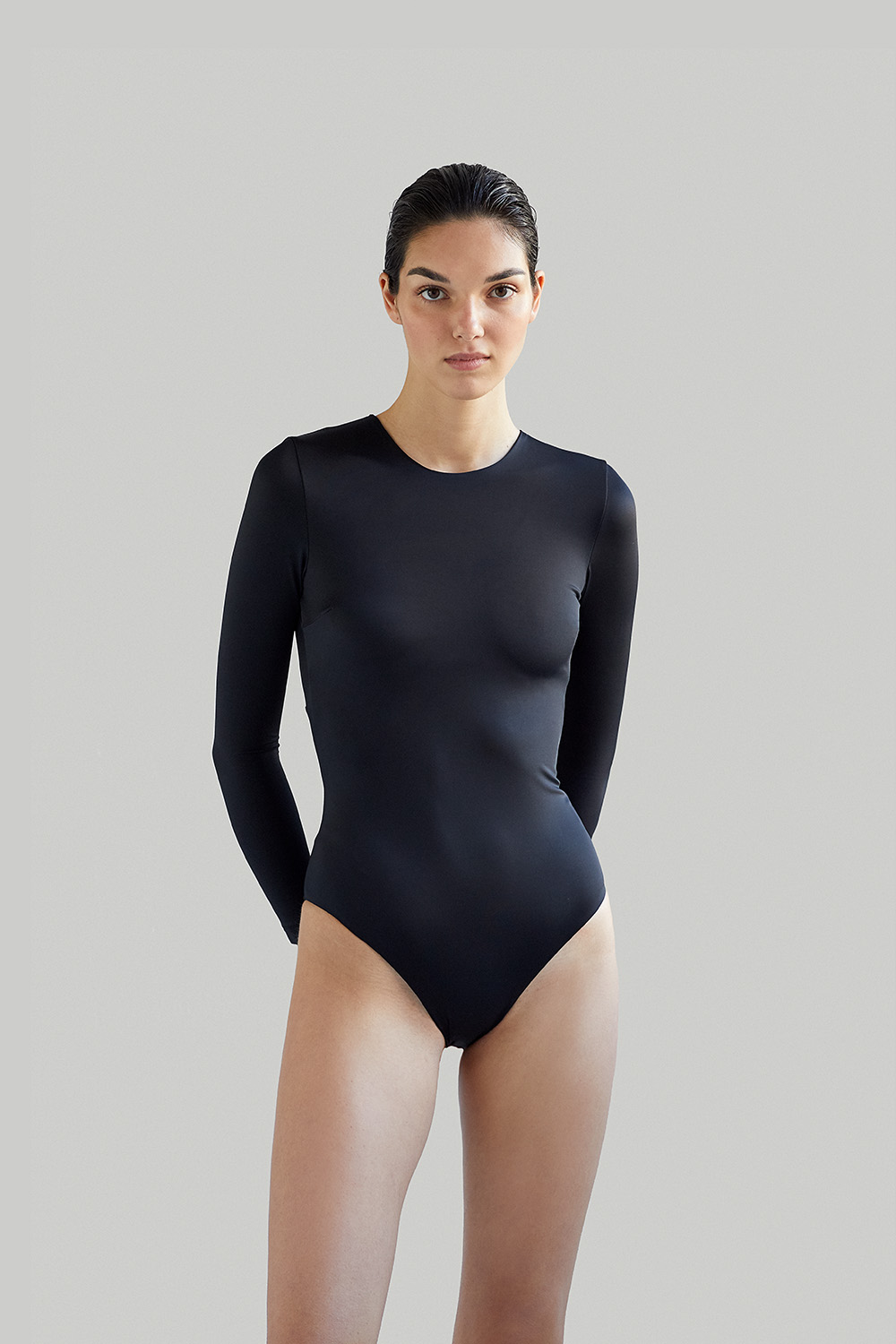 NOW_THEN Eugenie bodysuit black