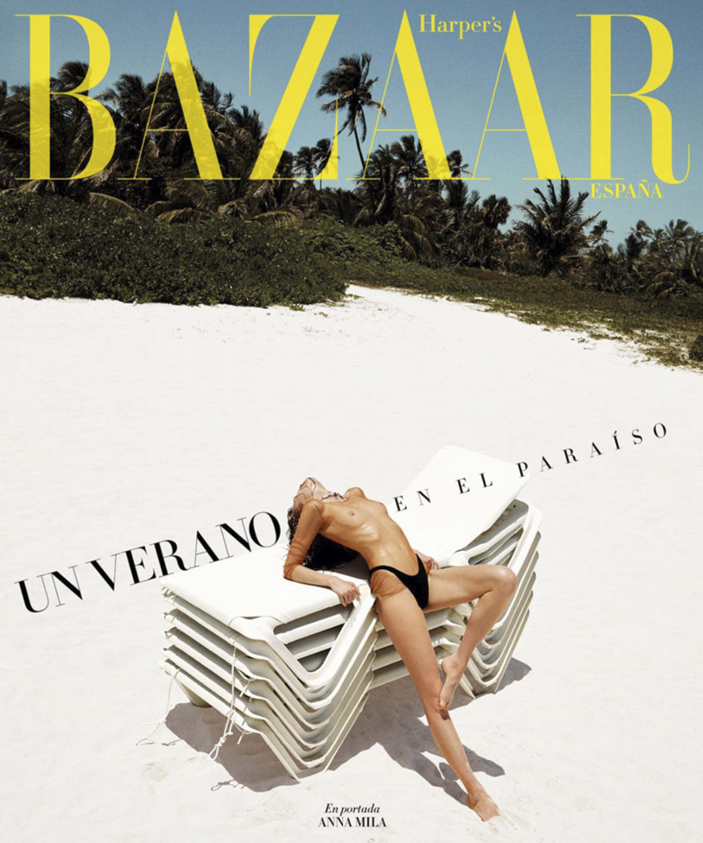 harpers bazaar, rosa copado, beach issue, anna milla, now then, eco swimwear, bañadores, ecológicos
