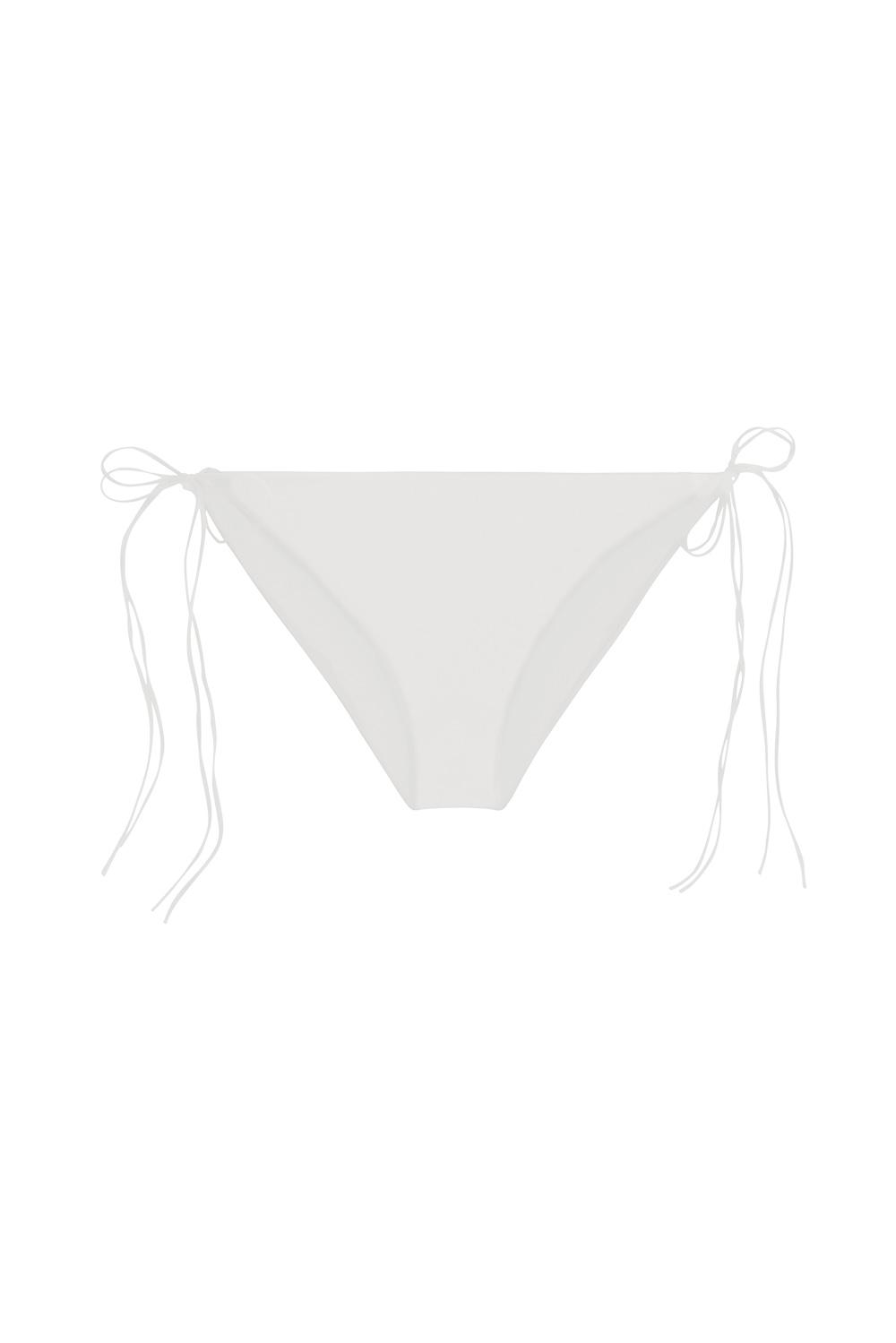 Sustainable Luxury Swimwear / Ropa de baño sostenible, eco bikini / bikini ecológico. Hermigua top in shell, by NOW_THEN