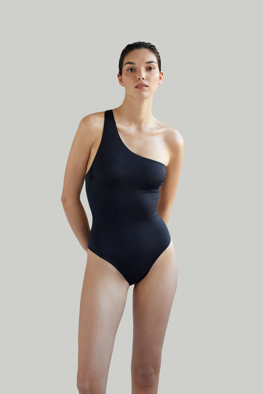 Sustainable Luxury Swimwear / Ropa de baño sostenible, onepiece swimsuit/ bañador ecológico. Sendai onepiece black by NOW_THEN