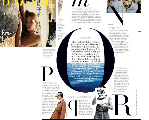 Harpers Bazaar Spain ocean april 2020 now then