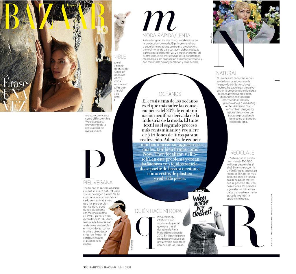 Harpers Bazaar Spain ocean april 2020 now then
