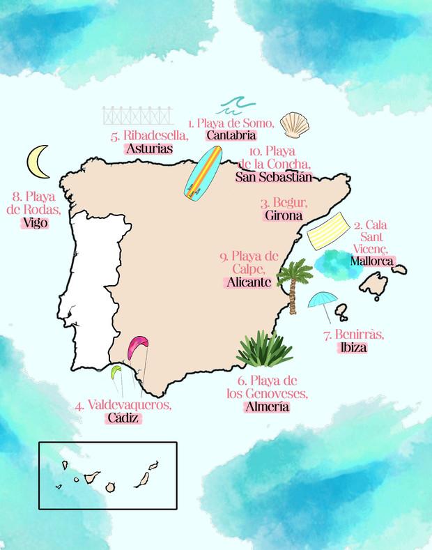 Glamour playas España bañadores neopreno bikinis sostenibles hechos en España NOW_THEN