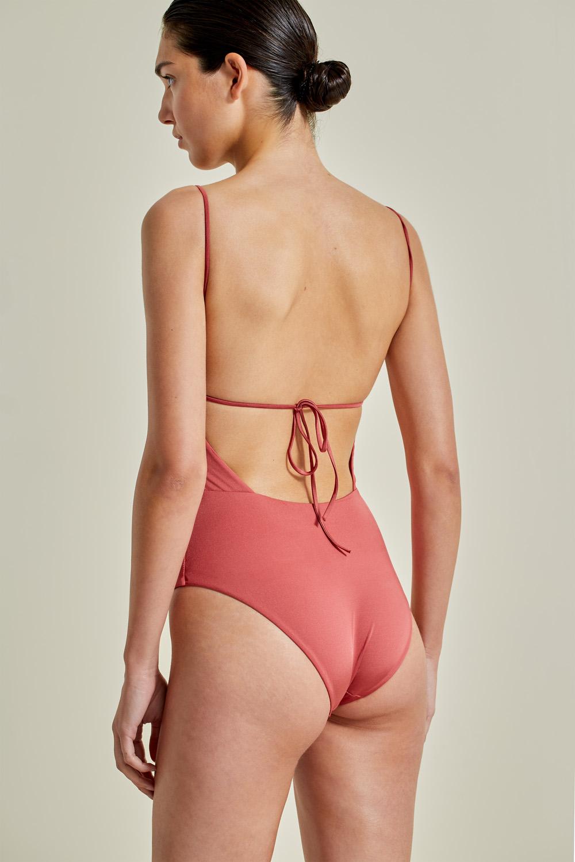 Sustainable Luxury Swimwear / Ropa de baño sostenible, onepiece swimsuit/ bañador ecológico. Aridane onepiece blush, econyl, NOW_THEN