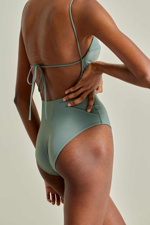 Sustainable Luxury Swimwear / Ropa de baño sostenible, onepiece swimsuit/ bañador ecológico. Aridane onepiece kelp, econyl, NOW_THEN