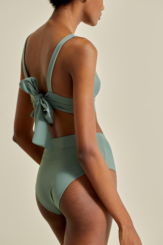 Kapalai top in kelp, by NOW_THEN eco swimwear / bikini ecológico