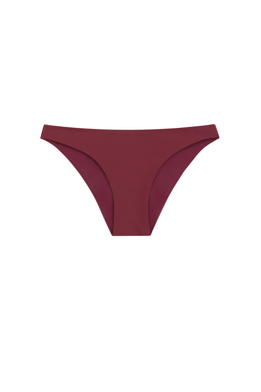Sustainable Luxury Swimwear / Ropa de baño sostenible, eco bikini / bikini ecológico. Entalula bottom in pitaya, by NOW_THEN