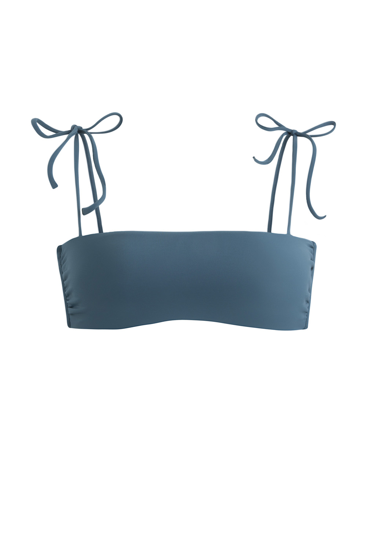 Sustainable Luxury Swimwear / Ropa de baño sostenible, eco bikini / bikini ecológico. Lio + Milos in blacksands, by NOW_THEN